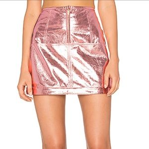 Luna Pink Metallic Skirt
